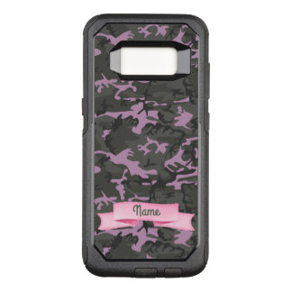 Text - Camo with Pink OtterBox Commuter Samsung Galaxy S8 Case
