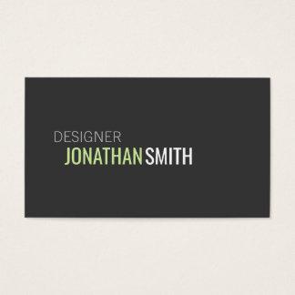 Text Design Business Card
