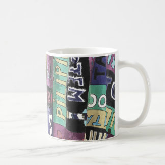 Text design coffee mug