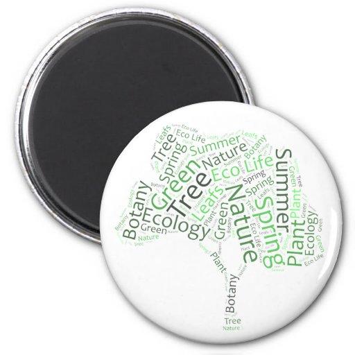 Text Design – ECO Tree 2 Inch Round Magnet