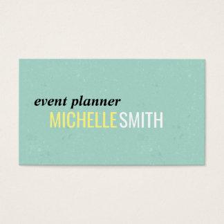 Text Design // Mint Business Card