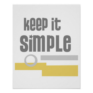 text design poster Keep It Simple gray and yellow