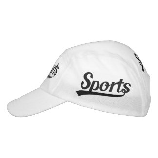 Text Design: SPORTS black + your own text & ideas Headsweats Hat