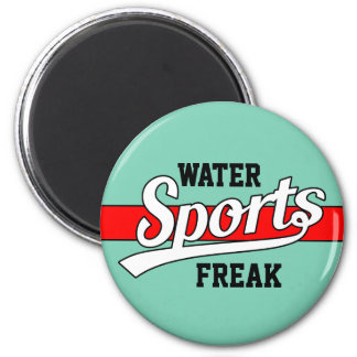 Text Design: SPORTS white + your own text & ideas 2 Inch Round Magnet