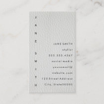 Text Design Vertical Leather Business Card