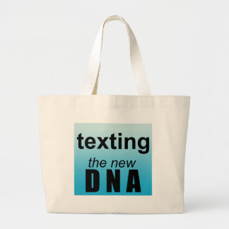 Text DNA Large Tote Bag