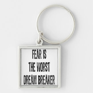 Text-Fear is the worst Dream Breaker-Black Keychain