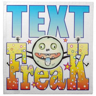 Text Freaky Freak Cloth Napkins