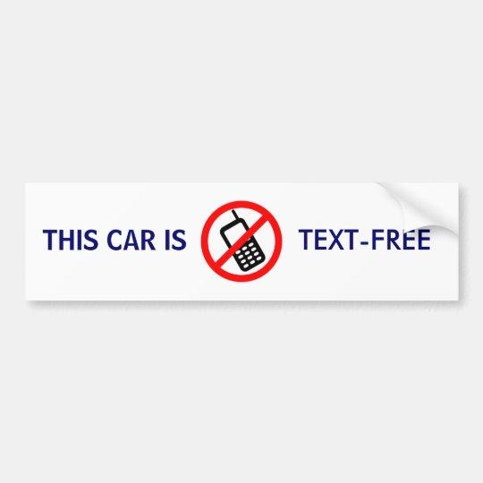 TEXT-FREE - bumper sticker
