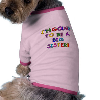 Text Future Big Sister Tshirts and Gifts Dog Tee Shirt