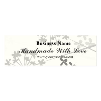 Text Handmade With Love - Minimal Floral Florid Mini Business Card
