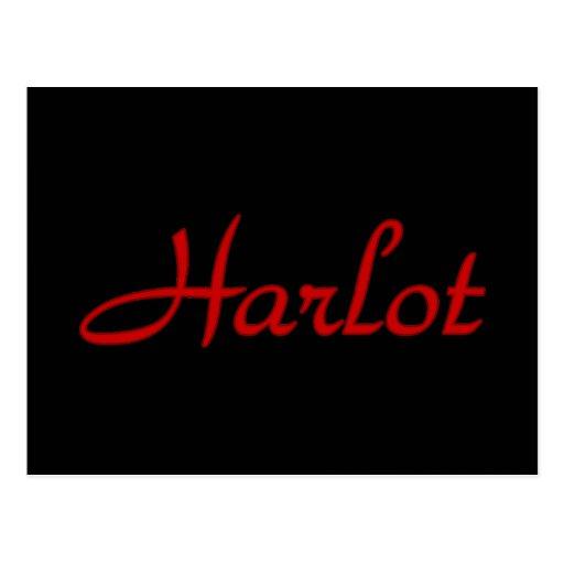 Text Harlot Post Card