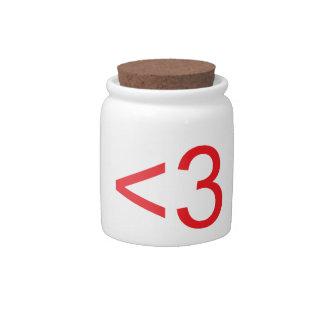 Text Heart Candy Jar