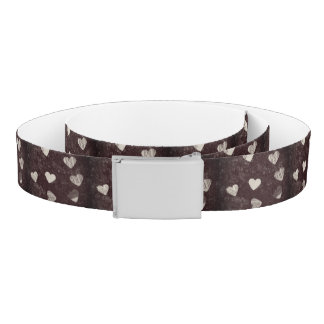 Text Hearts Belt