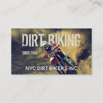 Text Integrated Dirt Bike Photo Business Card