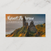 Text Integrated Landscape Photography Business Card