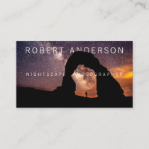 Text Integrated Night Photography Business Card
