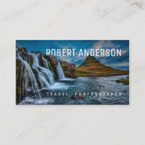 Text Integrated Travel Photography Business Card