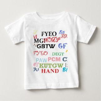 Text Lingo Abbreviations Baby T-Shirt