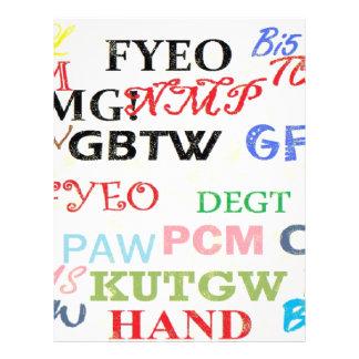 Text Lingo Abbreviations Flyer