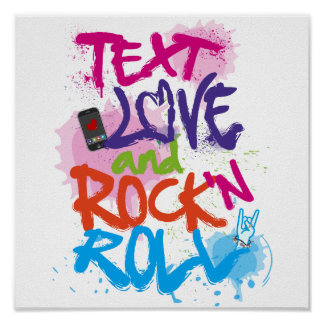 Text, Love & Rock 'n Roll Poster