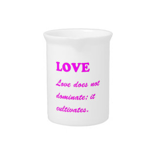 Text: LOVE Romance Pure Hearts HOT lowprice GIFTS Drink Pitcher