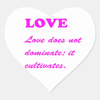 Text: LOVE Romance Pure Hearts HOT lowprice GIFTS Heart Sticker