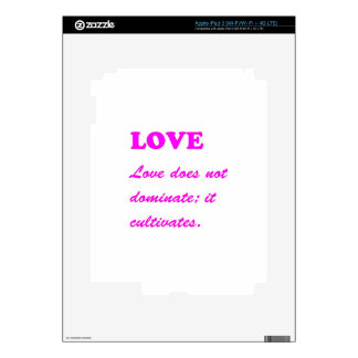 Text: LOVE Romance Pure Hearts HOT lowprice GIFTS iPad 3 Decals