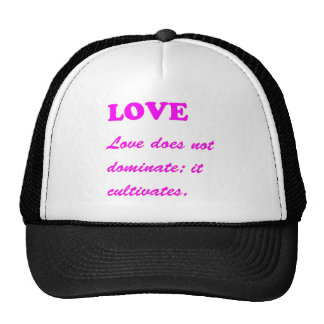 text LOVE Romance Sensual Pure Hearts LOWPRICES Trucker Hat