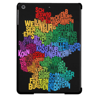 Text Map of Germany Map iPad Air Cases