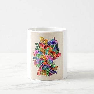 Text Map of Germany Map Coffee Mug