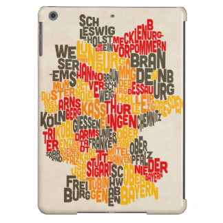 Text Map of Germany Map iPad Air Cover