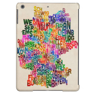 Text Map of Germany Map iPad Air Covers