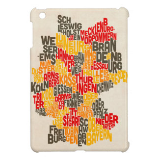 Text Map of Germany Map iPad Mini Case