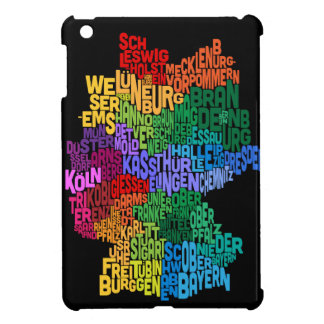 Text Map of Germany Map Cover For The iPad Mini