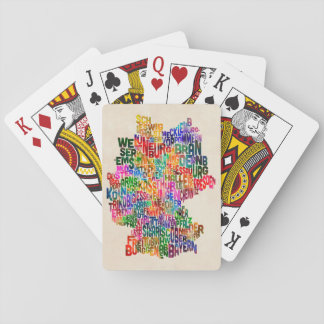Text Map of Germany Map Playing Cards
