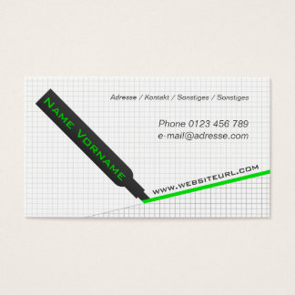 Text marker business card