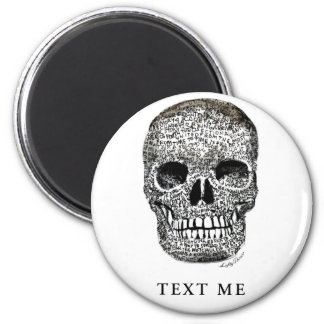 TEXT ME 2 INCH ROUND MAGNET