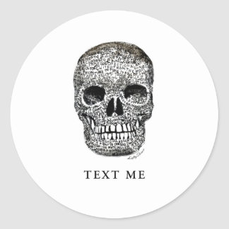 TEXT ME CLASSIC ROUND STICKER