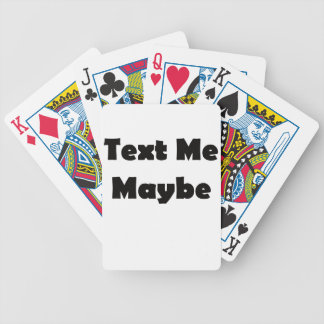 Text me maybe bicycle playing cards