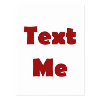 Text Me Postcard