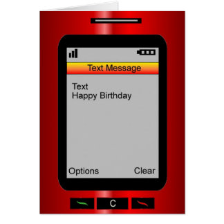 Text Message Happy Birthday Cards