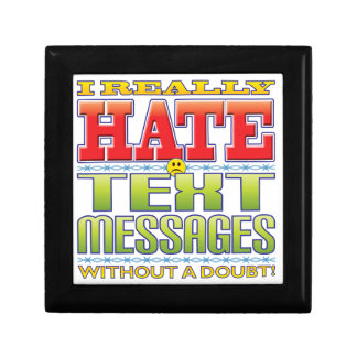 Text Messages Hate Face Trinket Box