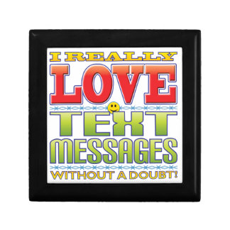 Text Messages Love Face Trinket Boxes