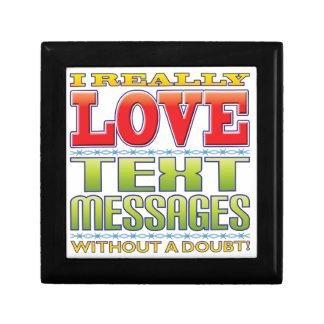Text Messages Love Keepsake Box