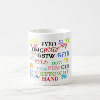 Text Messaging Lingo Coffee Cup
