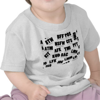 Text Msg on One page T Shirts