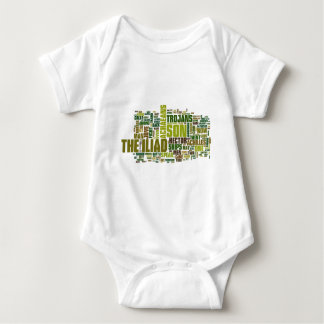 Text of The Iliad by Homer Baby Bodysuit
