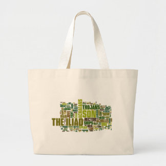 Text of The Iliad by Homer Large Tote Bag