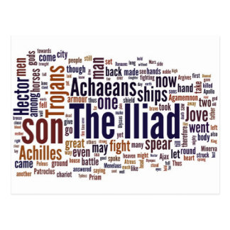 Text of The Iliad by Homer Postcard